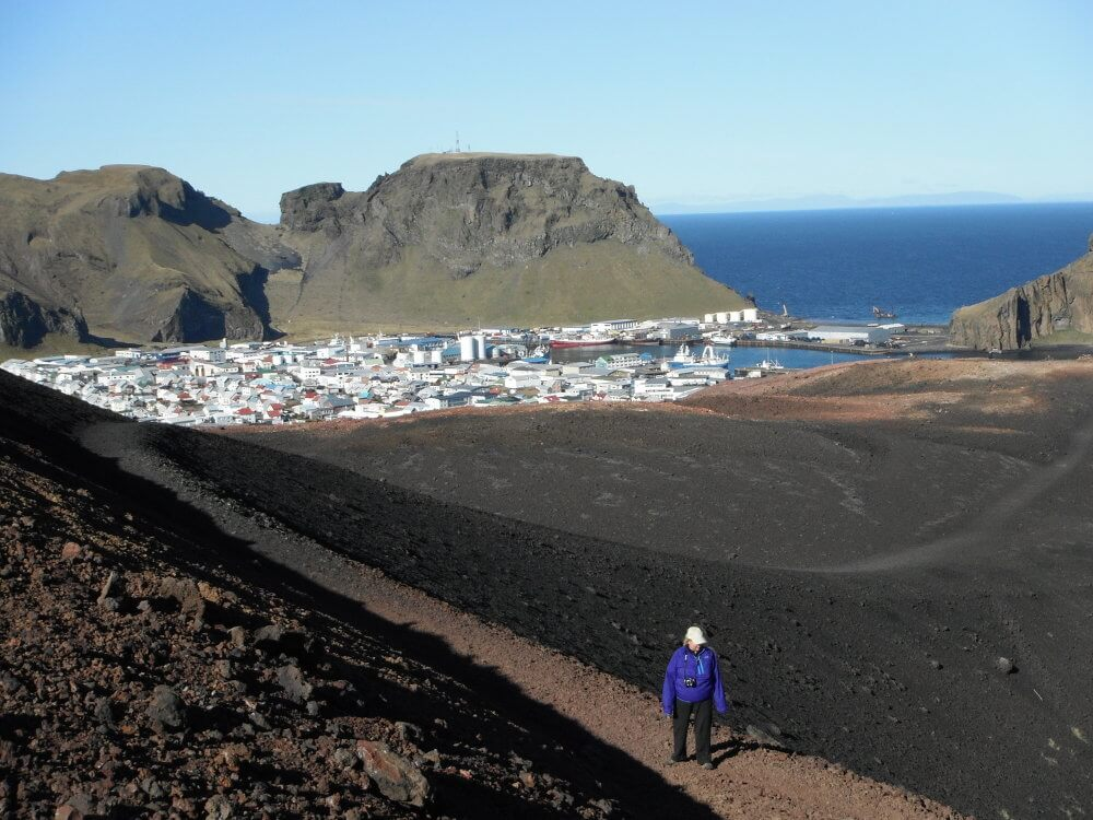 Vestmannaeyjar lava volcano